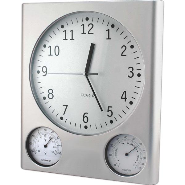 Ρολόι Τοίχου 30cm Με Θερμόμετρο Και Υγρόμετρο - StinPortaSou.gr 96829274689