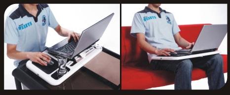 Φορητό, Aναδιπλούμενο Τραπεζάκι για Laptop με 2 Ανεμιστηράκια4