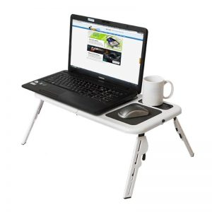 Φορητό, Aναδιπλούμενο Τραπεζάκι για Laptop με 2 Ανεμιστηράκια