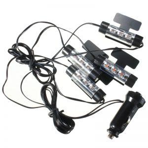 LED Φώτα Εσωτερικού Χώρου Αυτοκινήτου 12V - Σετ 4 Τεμαχίων