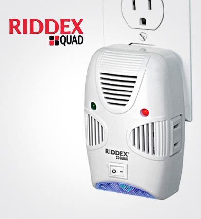 Συσκευή Απώθησης Τρωκτικών & Εντόμων RIDDEX QUAD 200m2