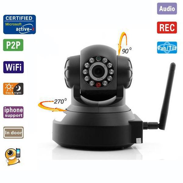 Ασύρματη Ρομποτική IP WiFi:Ethernet Κάμερα Pan:Tilt με Νυχτερινή Λήψη EasyNn 7951