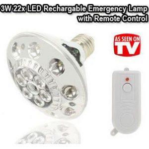 Epanafortizomeni lampa fakos asfalias me 22 LED kai tilexirismo