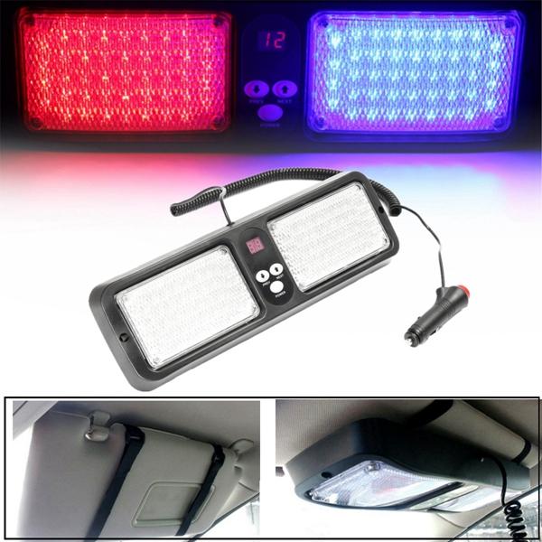 fota LED asfalias – astinomias, peripolikou, faros ektaktis anagkis autokinitou 12V 5W tipos leuka LED 1