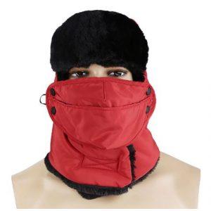 Adiavroxos Zestos Skoufos Kapelo Full Face me GOuna - Trapper Fur Aviator Hat