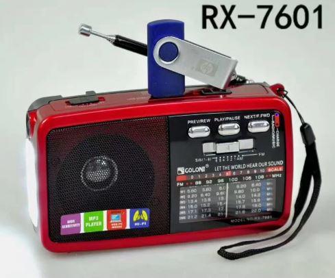Forito Bluetooth USB SD Mp3 Player Multimedia Speaker, FM Radio kai Fakos LED RX-7600 1