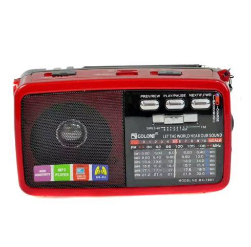 Forito Bluetooth USB SD Mp3 Player Multimedia Speaker, FM Radio kai Fakos LED RX-7600