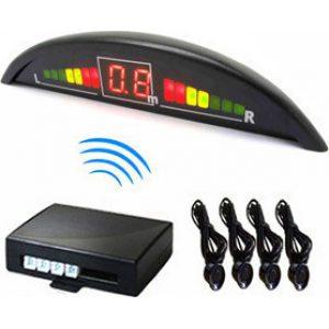 Aisthitires parkarismatos me psifiaki othoni LED Parking Sensors – White