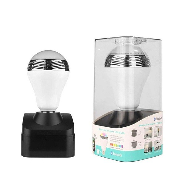 Bluetooth Πολύχρωμη Λάμπα LED 6W & Ηχείο 3W E27 για Android & iOS 1