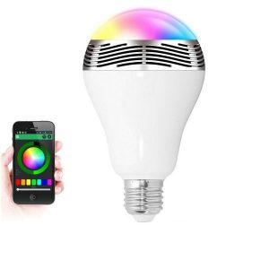 Bluetooth Πολύχρωμη Λάμπα LED 6W & Ηχείο 3W E27 για Android & iOS