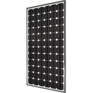 Fotovoltaiko panel monokristallikou piritiou 12V 150Watt mee plesio alouminiou