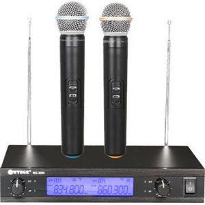 Psifiaki Studio Quality Siskevi gia Karaoke me 2 Asirmata Mikrofona WG-2009 DIGITAL UHF