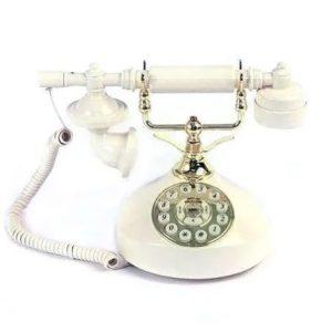 Retro tilefoniki siskevi antika opsis porselanis cask vintage phone kx8002
