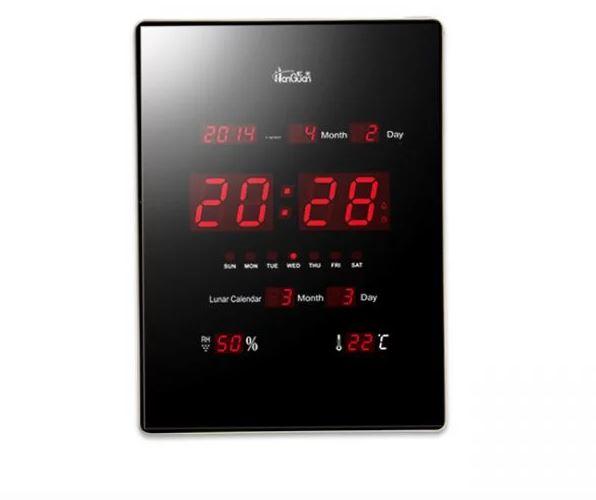 Slim Ψηφιακό Ρολόι Jumpo - Ημερολόγιο Τοίχου LED Θερμόμετρο ... 33b6e4a74f6