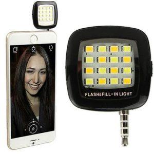 flas gia kinita tilefona kai smartphone - selfie flash high power 16 led