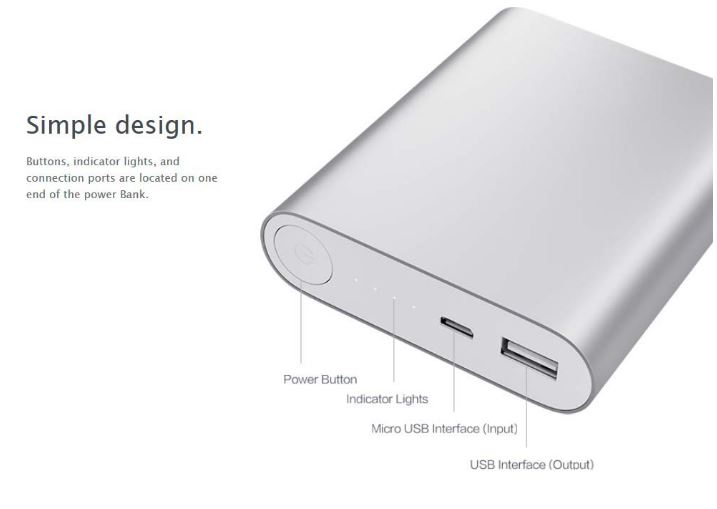 power bank 2,1A mpataria fortistis 10.400mah ad-02 a
