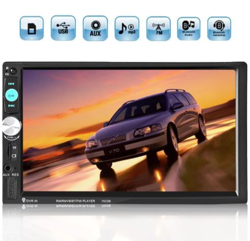 2DIN 7in othonis afis aftokinitou Bluetooth SD-USB-AUX-MP3-4-5 Multimedia Player YH-8702 a
