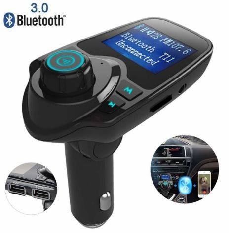 Car Fm Transmitter aftokinitou USB, SD, AUX Bluetooth – anixtis akroasis & fortistis USB 1