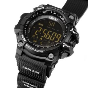 adiavroxo Sport Smartwatch LCD EX16 roloi Bluetooth me vimatometriti kai thermidometriti