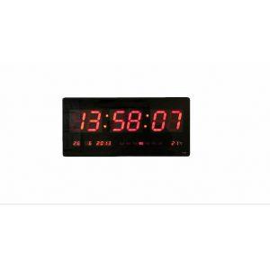 psifiako roloi tixou gigas 68cm - pinakida led me thermometro kai imerologio giant clock jh68
