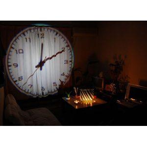anallogiko roloi protektoras me tilexiristirio - giant projection clock 1