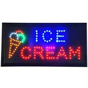 fotizomeni diafimistiki pinakida led ice cream