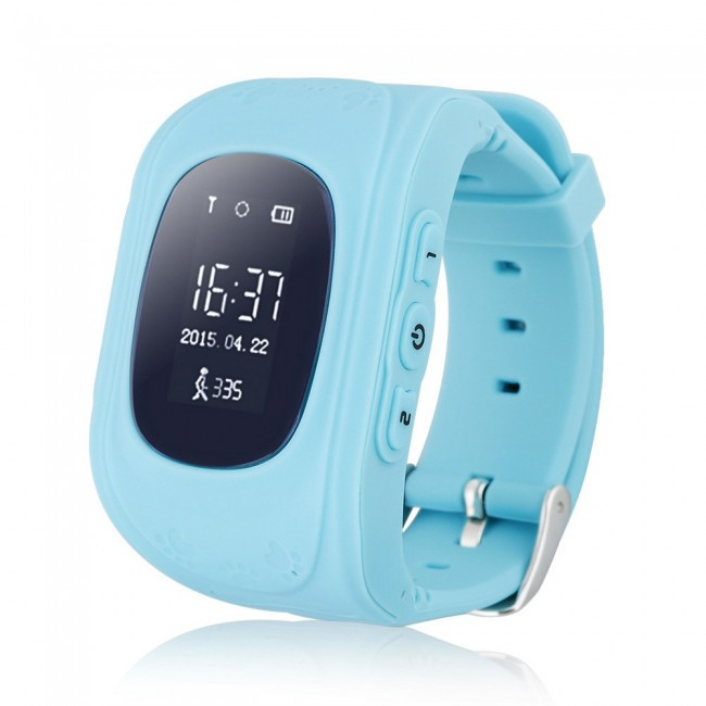 82945b0d302 GPS Παιδικό ρολόι χειρός, SOS – Βηματομετρητής- OEM Smartwatch Q50-Blue