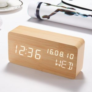 Wood Style Digital LED Clock MAIN