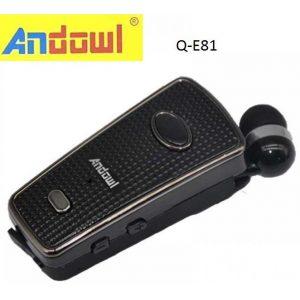 Andowl Q-E81 In-ear Bluetooth Handsfree Μαύρο
