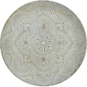 Inart Διακοσμητική Πιατέλα Ξύλινο 45x45x4cm 3-70-540-0084
