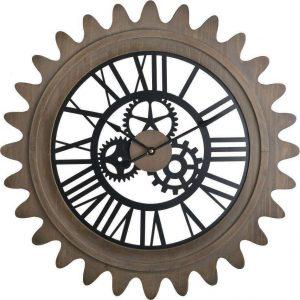 Inart Ρολόι Τοίχου Natural 60x5x60 3-20-729-0005